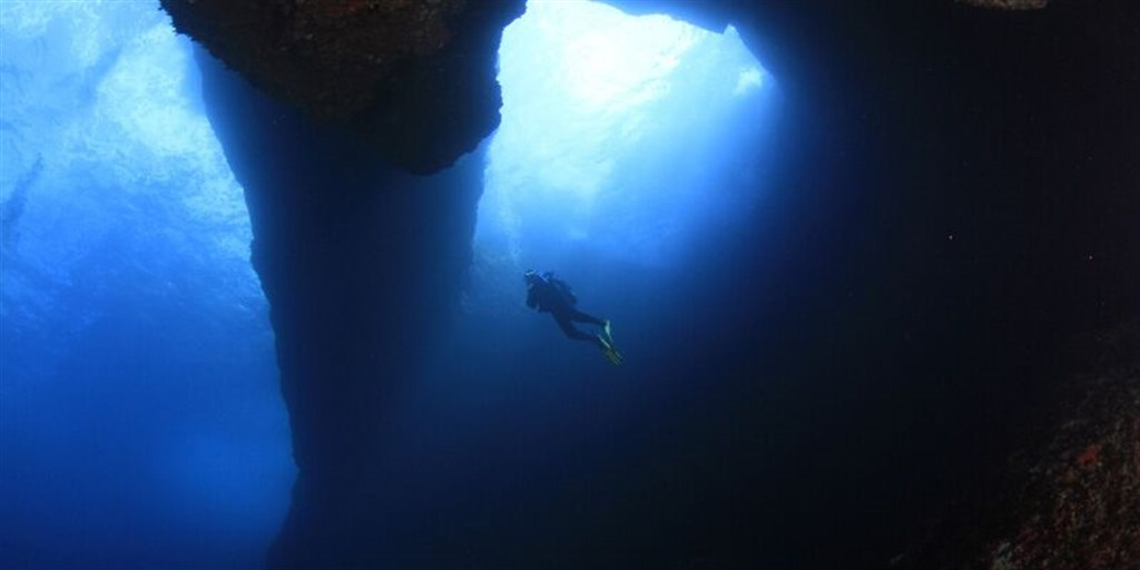 Scuba Diving Photo in BLUE HOLE in Malta