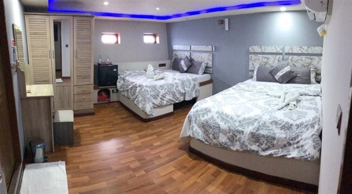 Master suite with twin beds