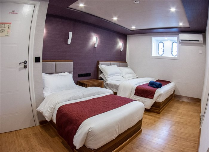 Double cabin with extra single bed