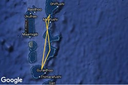 South to Thaa atoll