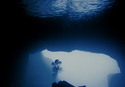 Scuba diving in Cathedral Caves in Malta
