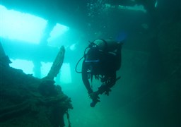 Scuba diving in Kogyo Maru in Philippines