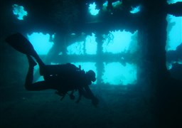 Scuba diving in Morazan Maru in Philippines