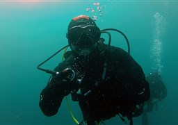 Scuba diving in Sesimbra Wreck in Portugal