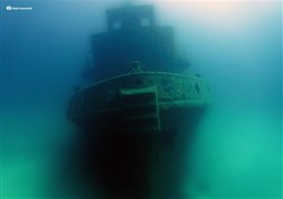 Scuba diving in Wreck Rozi in Malta
