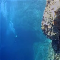 Dive site Deep wall Therasia