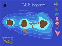 Dive site Gili Mimpang plan