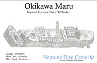 Dive site Okikawa Maru plan