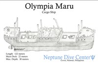 Dive site Olympia Maru plan