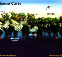 Dive site Palancar Caves plan