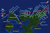 Dive site Sabang Bay plan