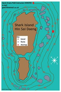 Dive site Shark Island plan