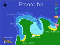 Dive site Tanjung Sari plan